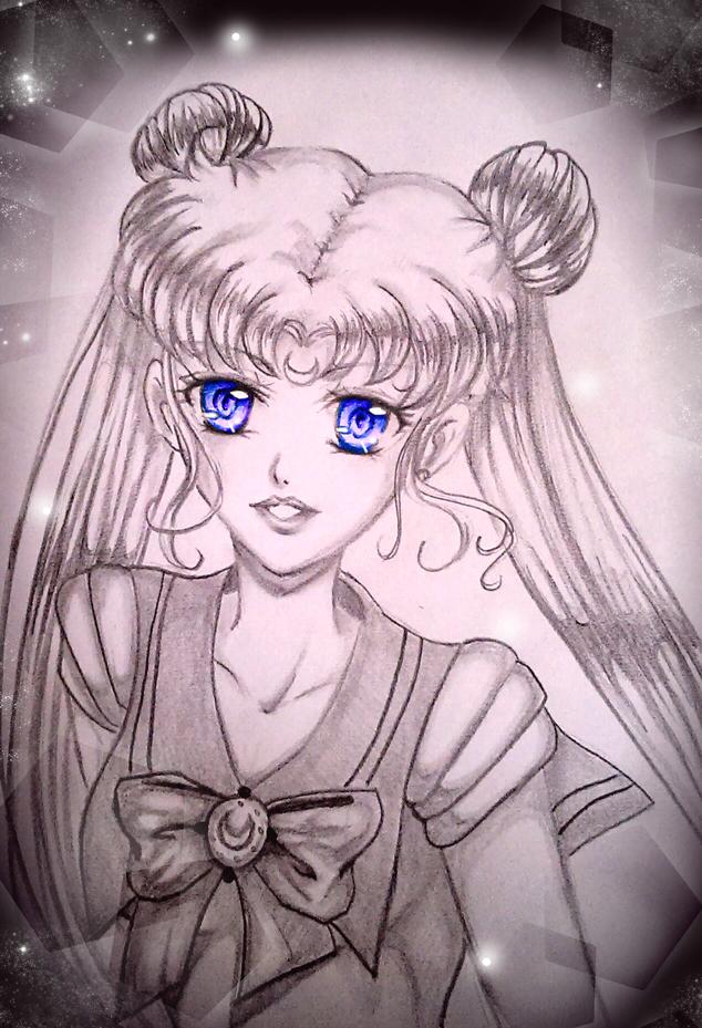 Sketch Sailor Moon by Ahnung