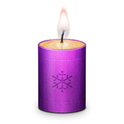 Chirstmas Candle Icon by AgentCosmic
