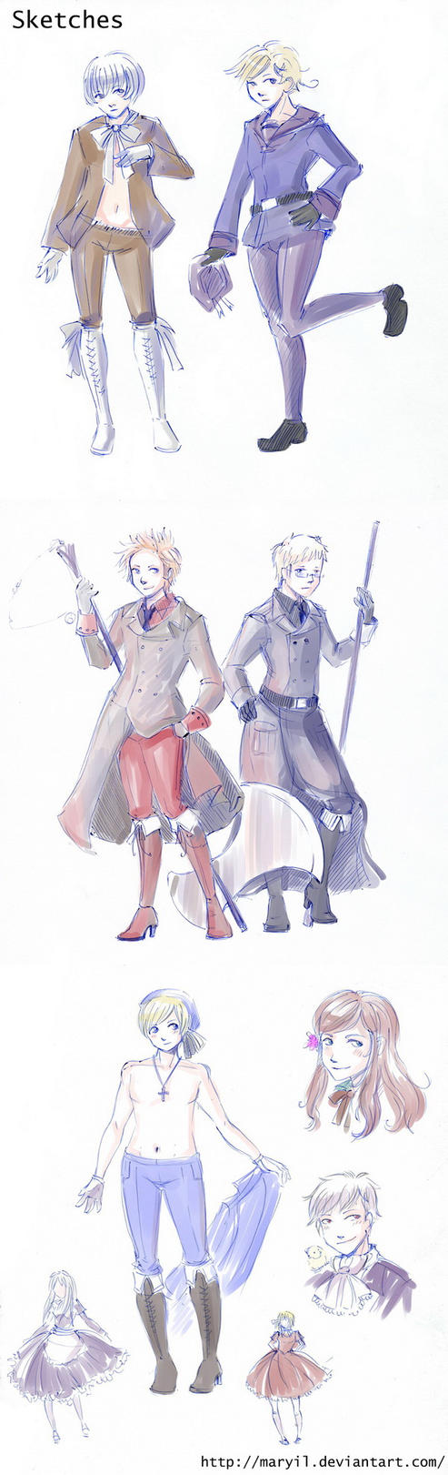 APH Sketches by MaryIL