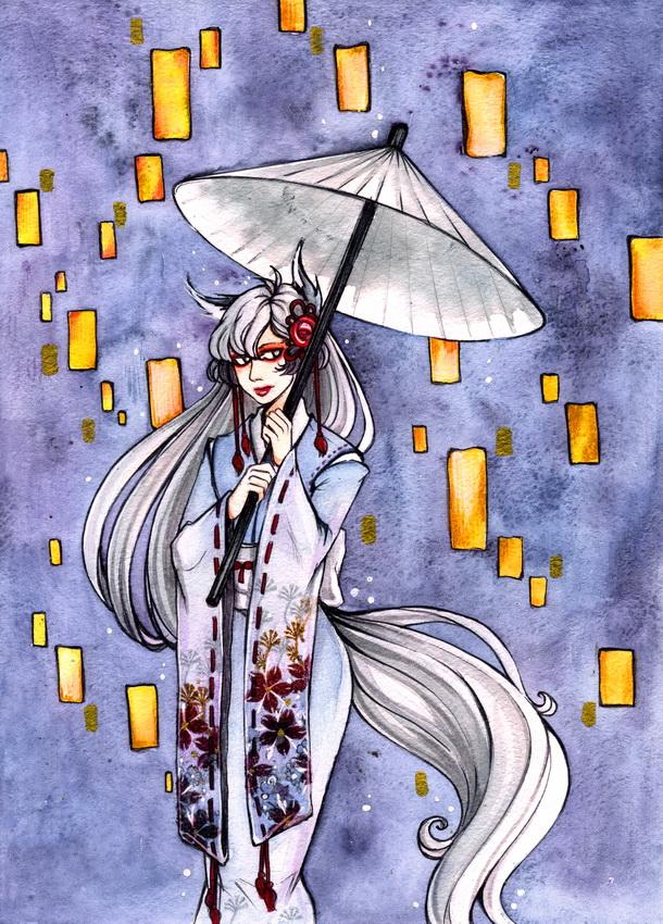 White fox by MaryIL
