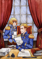 SNK Armin and Erwin by MaryIL