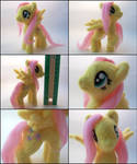 Fluttershy posable needle felted plush
