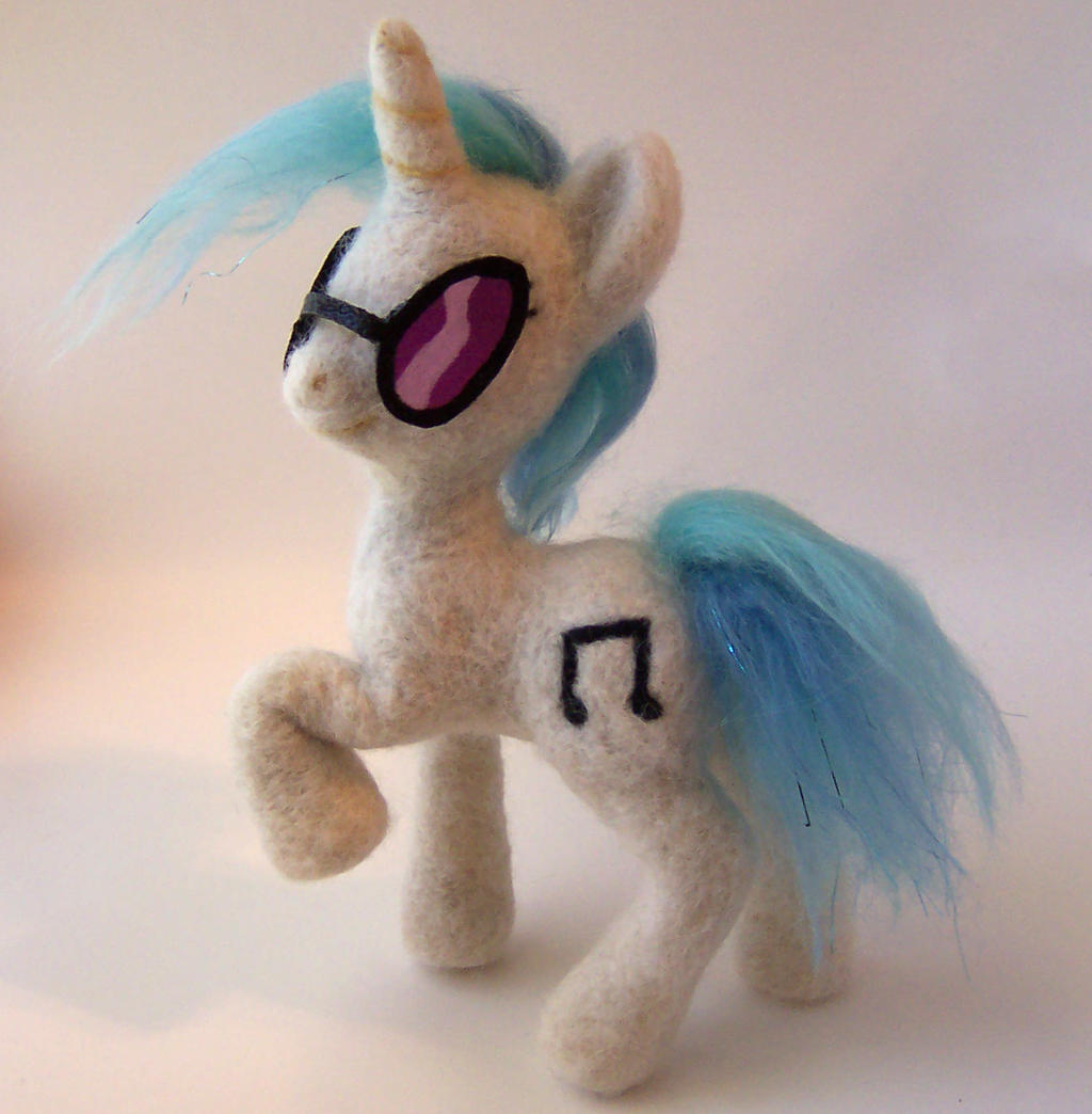 Vinyl Scratch Needle Felted Posable Plush by SnowFox102
