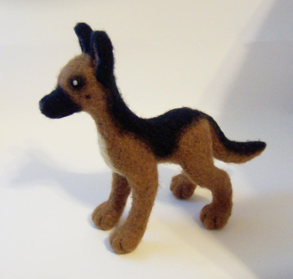 Needle Felted German Shepherd by SnowFox102