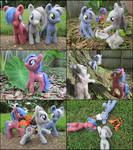 Posable Needle Felted Pony Trio