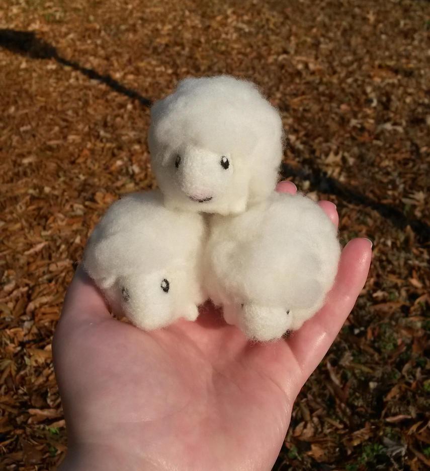 Fluffies - Tiny Sheep by SnowFox102