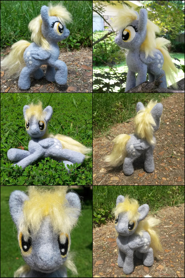 Posable Needle Felted Derpy by SnowFox102