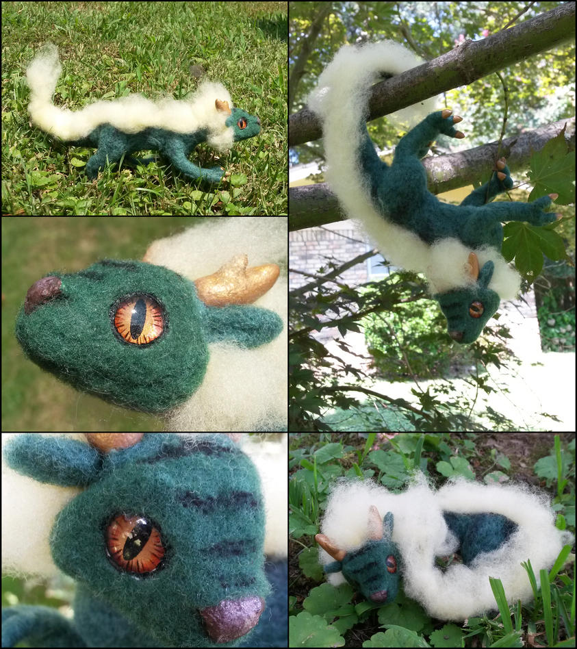 Posable Eastern dragon prototype by SnowFox102