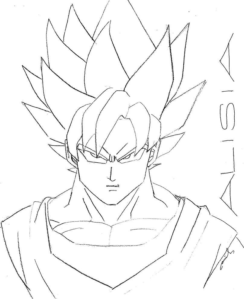 super saiyan goku by ariel conde on deviantart