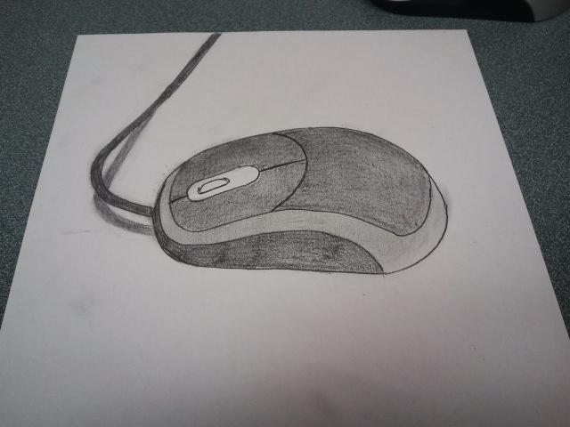 Start sketch of a 3d computer mouse by ariel conde on for 3d sketch online