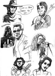 Famous sketches by deanfenechanimations