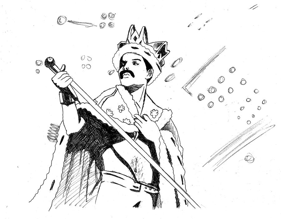 Freddie queen sketch by deanfenechanimations on deviantart for Coloring pages mercury