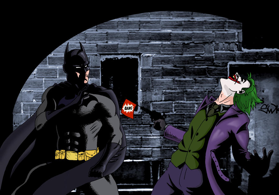 Batman vs Joker by deanfenechanimations