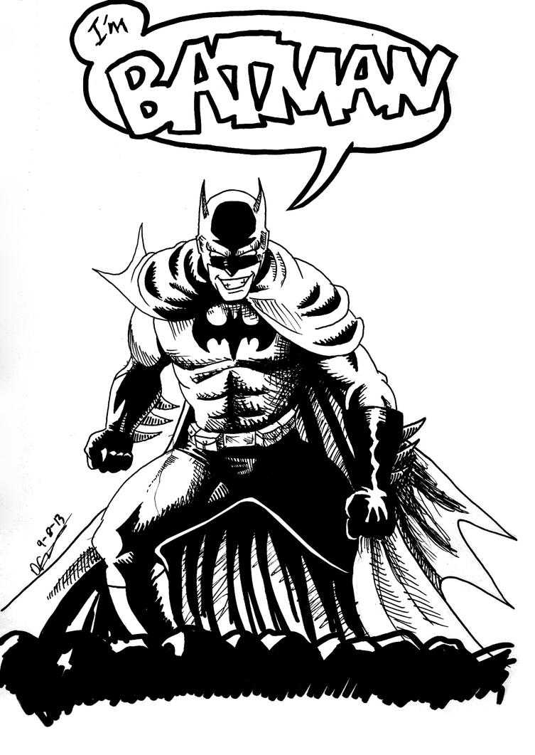 L-artisti fil-Misrah Batman sketch by deanfenechanimations