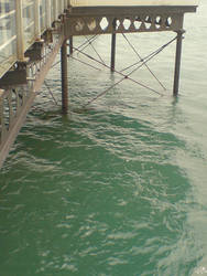 Below Sandown pier