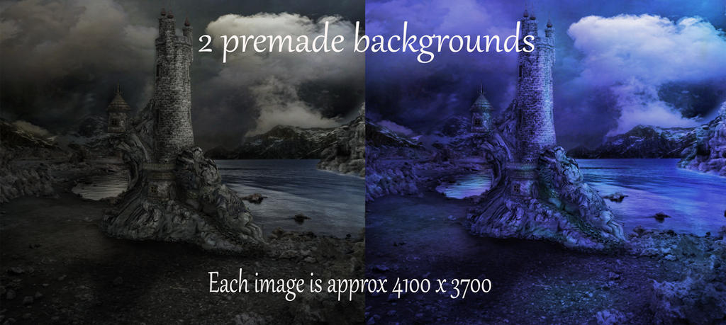 Premade Castle Backgrounds by Birdsatalcatraz