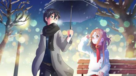 SAO: Kirito and Asuna by paularis123
