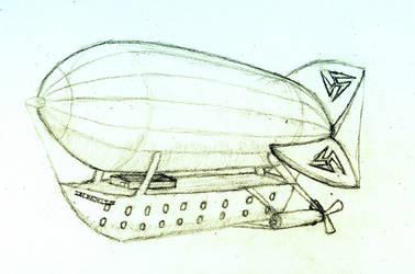 Passenger Airship by Ravynetti