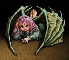Girl-Bat by tonyhough