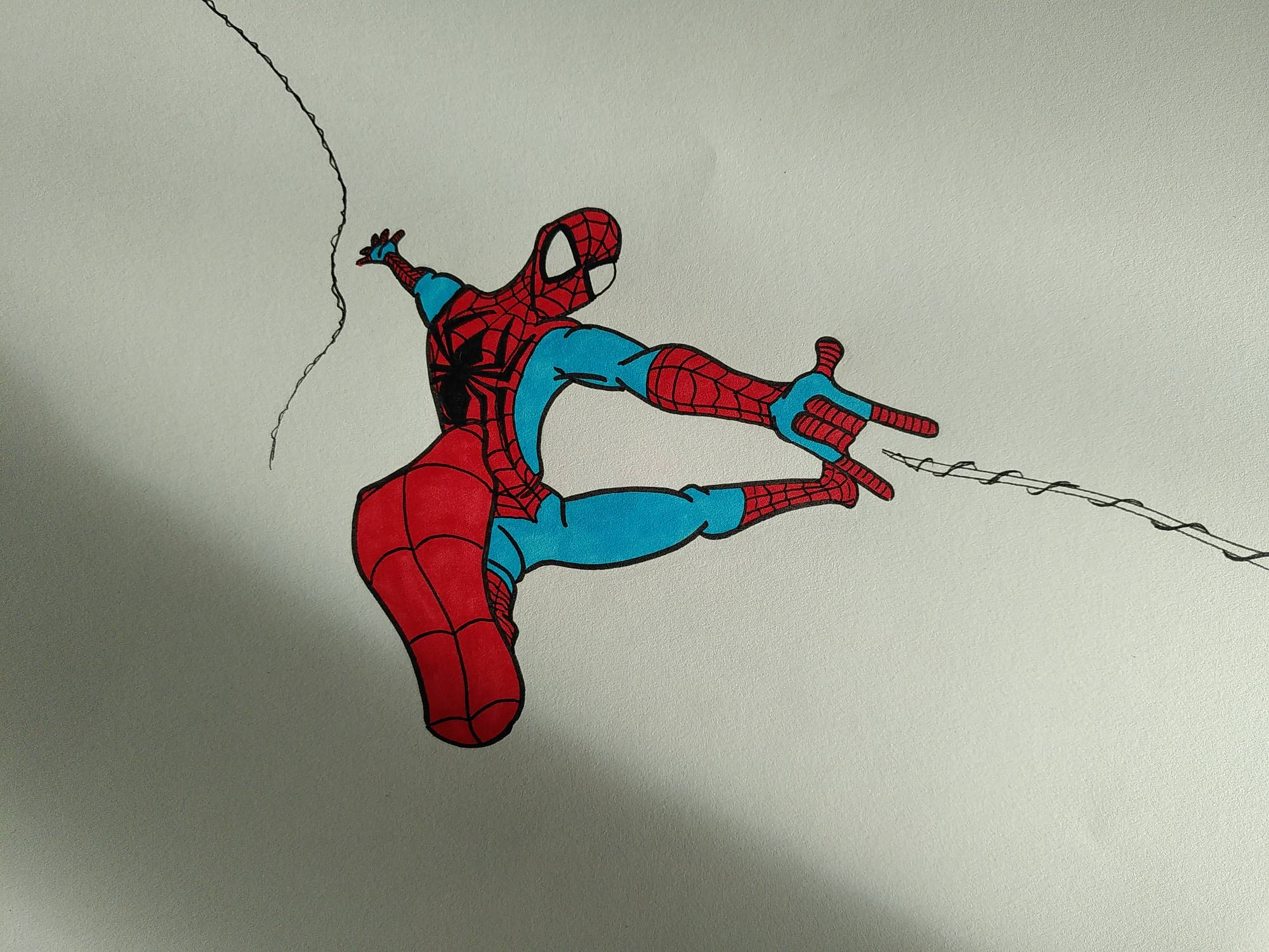 Spider-Man step 1