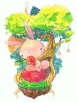 Rabbit under treestar