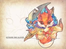 Adoptable : KITSUNE ONI SLAYER by jengslizer