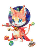 Space Cat by jengslizer