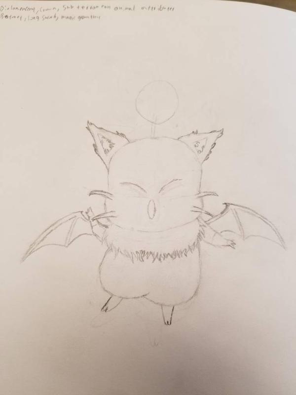 moogle sketch