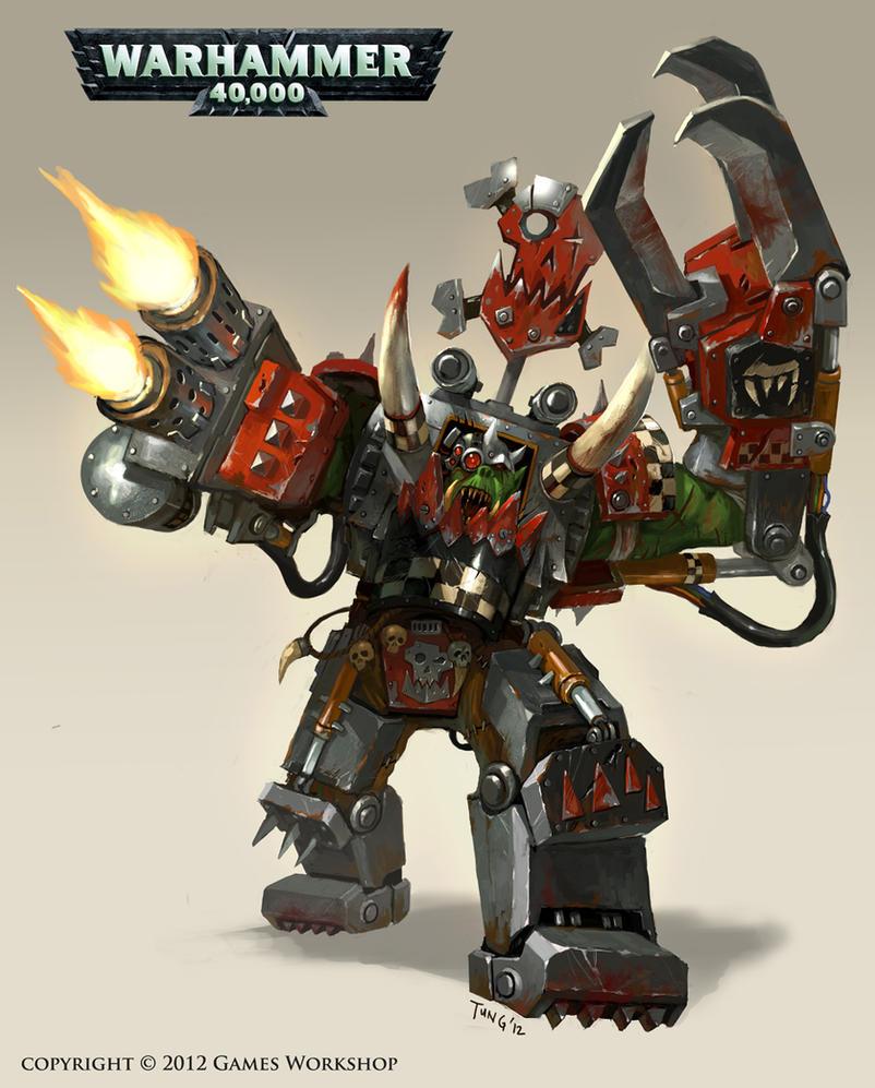 Warhammer 40K : Headcracka Gorwade by emersontung