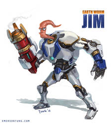 Earthworm Jim Redesign by emersontung
