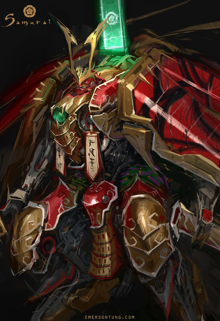 Mechanical Samurai Nobunaga - Closeup by emersontung