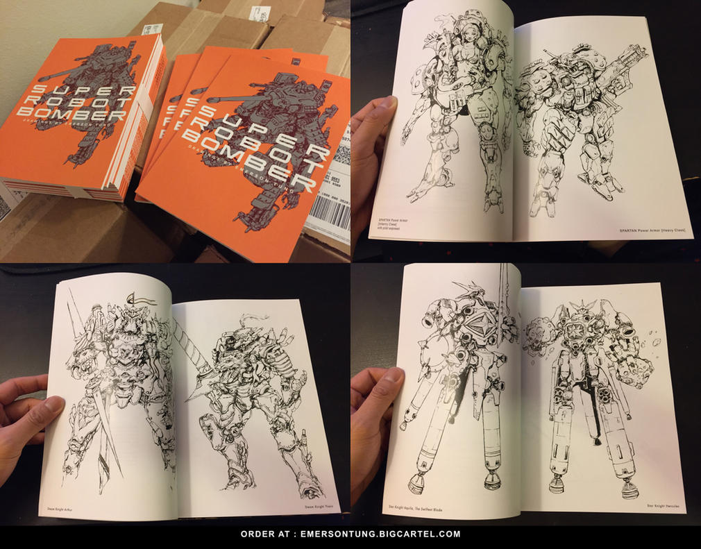 Artbook - SUPER ROBOT BOMBER by emersontung