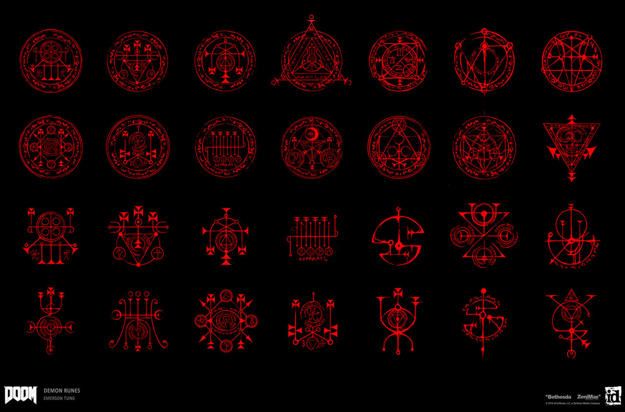 DOOM - Sigils,  Runes and Pentagrams