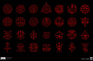 DOOM - Sigils,  Runes and Pentagrams by emersontung