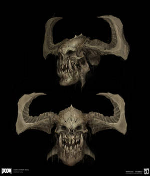 DOOM - GIant Demon Skull 3