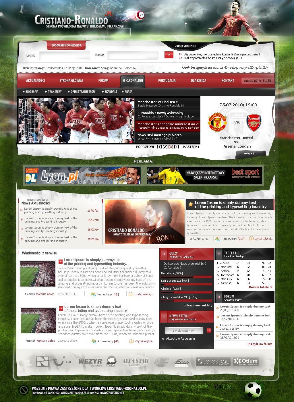 cristiano ronaldo site by lukearoo