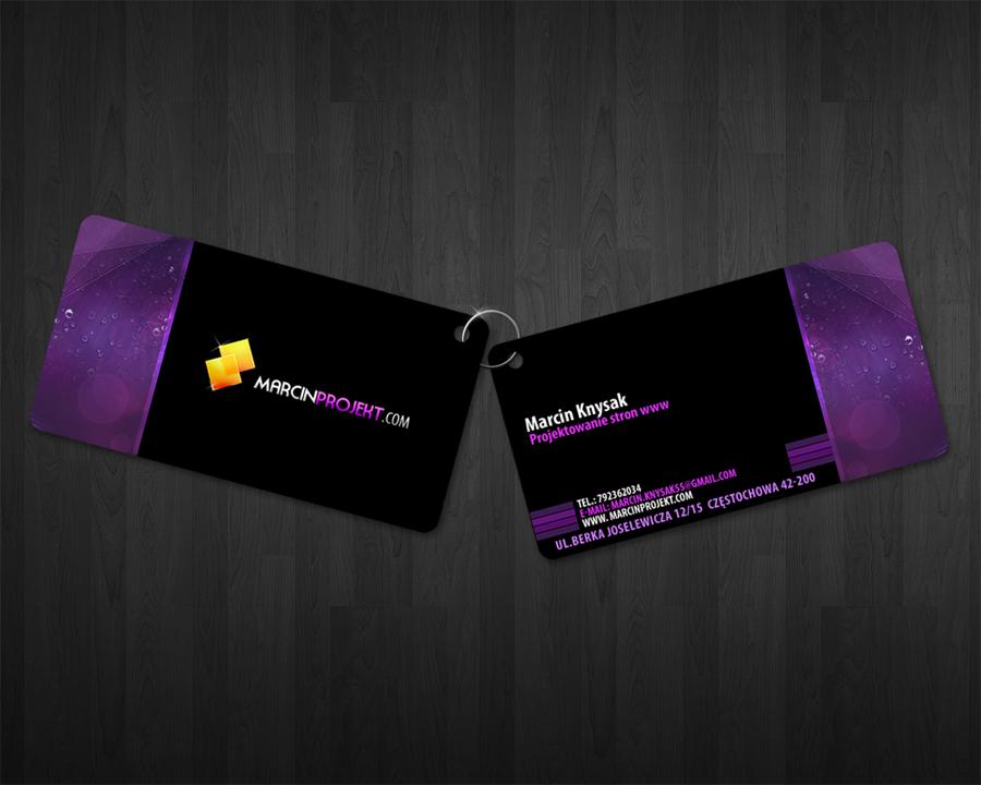 marcinprojekt business card by lukearoo on DeviantArt
