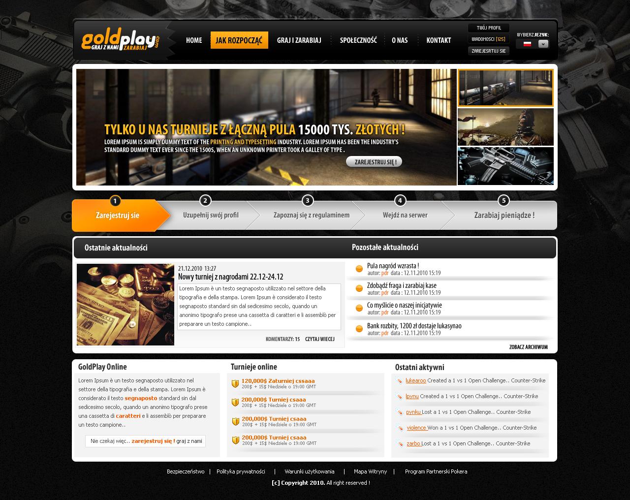 GoldPlay- CS tournaments by lukearoo