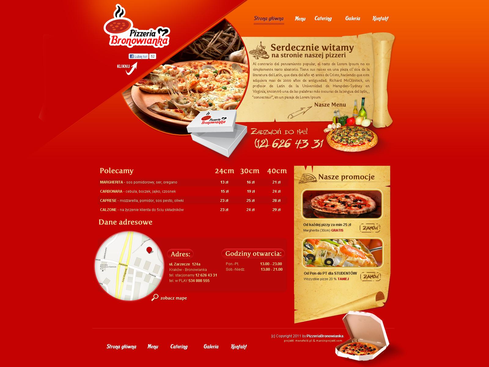 Pizza Bronowianka website by lukearoo