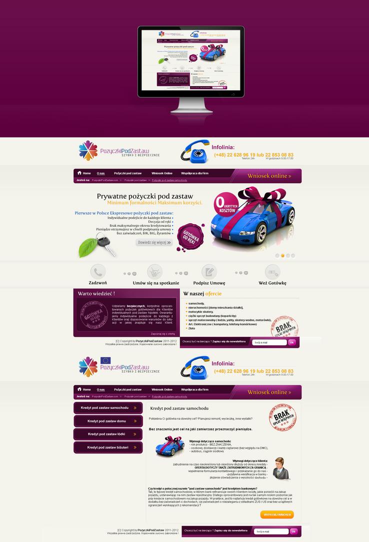 Webdesign 4 loans company by lukearoo