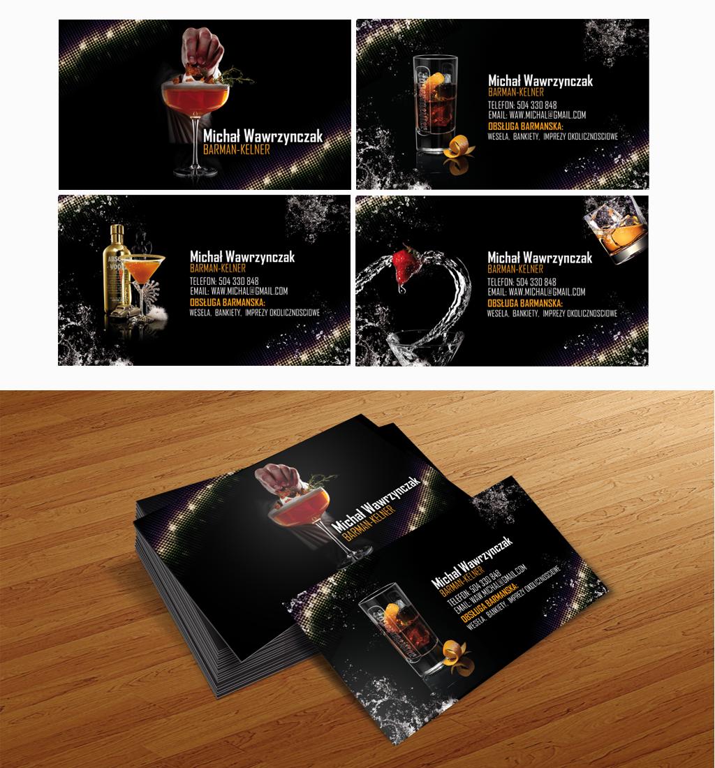 Business card 4 barman by lukearoo