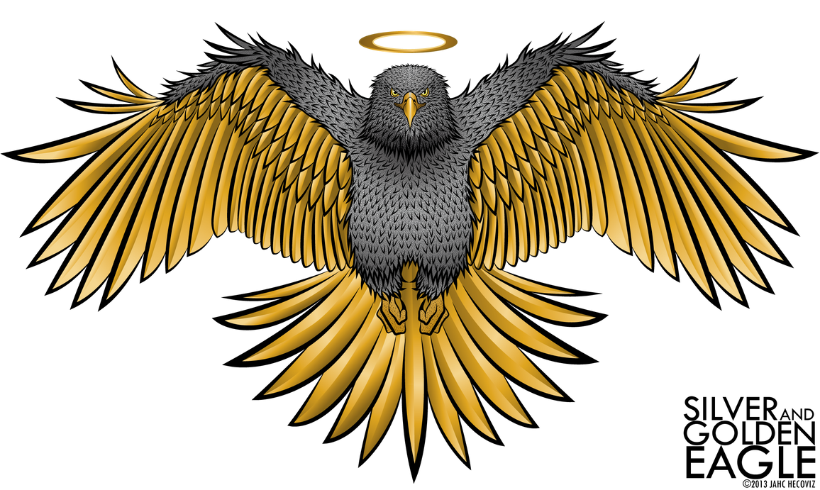 silver and golden eagle by jahcz on deviantart