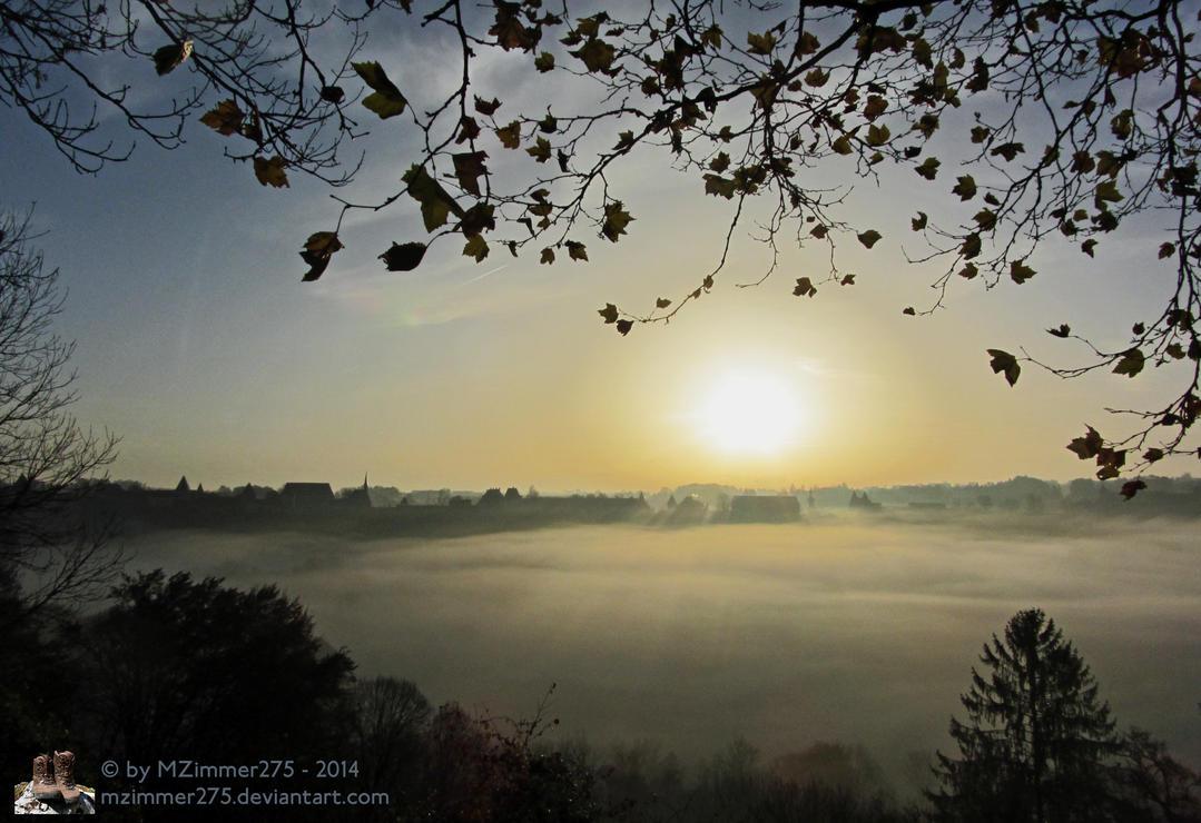 Morning Has Broken Over Burghausen Castle by MZimmer275