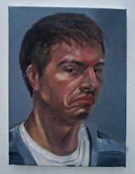 Grumpy Artist-Self Portrait by Ghost21501