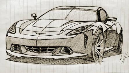 Corvette sketch by Ghost21501
