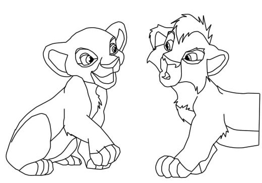 Lion King Kovu And Kiara Coloring