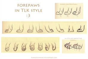 TLK Forepaws Refsheet Tutorial