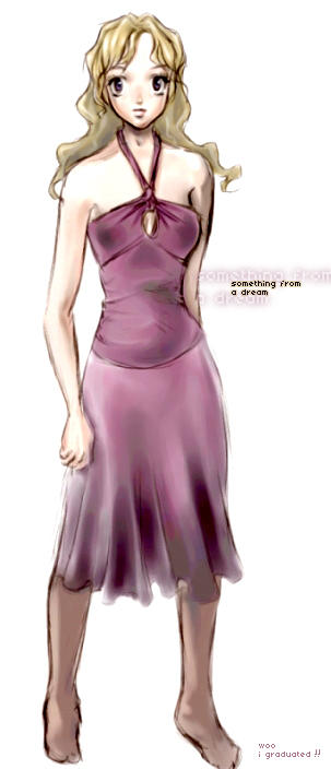 purple dress ALUMNA by emi-chan