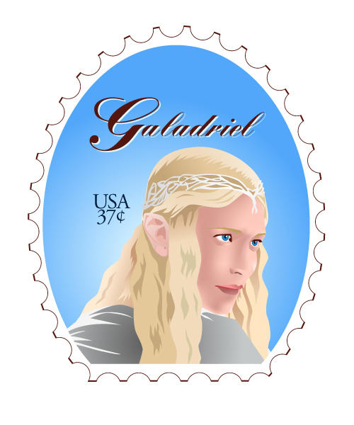 Galadriel Stamp Finished by emi-chan