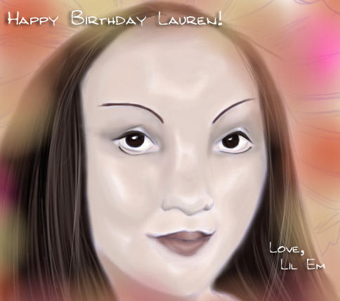 happy birthday lauren by emi-chan
